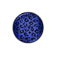 Skin5 Black Marble & Blue Brushed Metal Hat Clip Ball Marker (4 Pack) by trendistuff