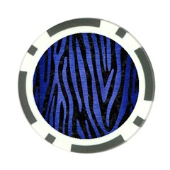Skin4 Black Marble & Blue Brushed Metal (r) Poker Chip Card Guard (10 Pack) by trendistuff