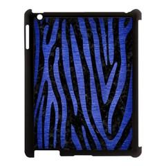 Skin4 Black Marble & Blue Brushed Metal (r) Apple Ipad 3/4 Case (black) by trendistuff