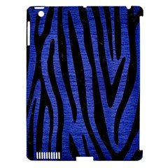 Skin4 Black Marble & Blue Brushed Metal Apple Ipad 3/4 Hardshell Case (compatible With Smart Cover) by trendistuff