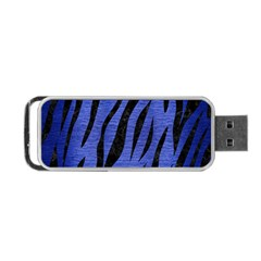 Skin3 Black Marble & Blue Brushed Metal (r) Portable Usb Flash (two Sides) by trendistuff