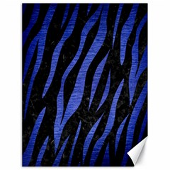 Skin3 Black Marble & Blue Brushed Metal Canvas 18  X 24  by trendistuff