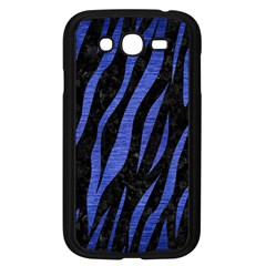 Skin3 Black Marble & Blue Brushed Metal Samsung Galaxy Grand Duos I9082 Case (black) by trendistuff