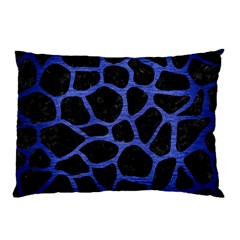 Skin1 Black Marble & Blue Brushed Metal (r) Pillow Case (two Sides) by trendistuff