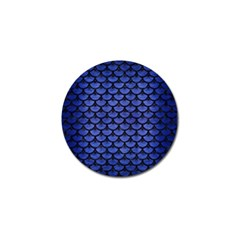 Scales3 Black Marble & Blue Brushed Metal (r) Golf Ball Marker by trendistuff