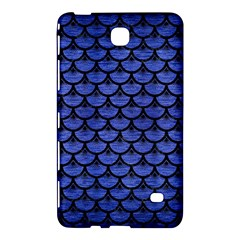 Scales3 Black Marble & Blue Brushed Metal (r) Samsung Galaxy Tab 4 (8 ) Hardshell Case  by trendistuff