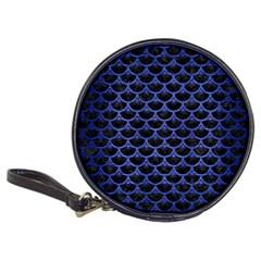 Scales3 Black Marble & Blue Brushed Metal Classic 20 Cd Wallet by trendistuff