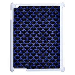 Scales3 Black Marble & Blue Brushed Metal Apple Ipad 2 Case (white) by trendistuff