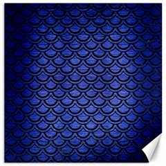 Scales2 Black Marble & Blue Brushed Metal (r) Canvas 20  X 20  by trendistuff