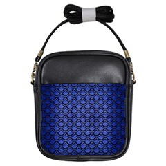 Scales2 Black Marble & Blue Brushed Metal (r) Girls Sling Bag by trendistuff