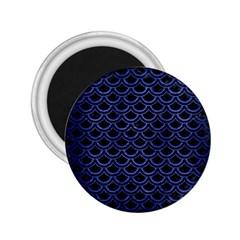 Scales2 Black Marble & Blue Brushed Metal 2 25  Magnet by trendistuff
