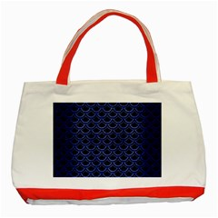 Scales2 Black Marble & Blue Brushed Metal Classic Tote Bag (red) by trendistuff