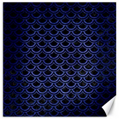 Scales2 Black Marble & Blue Brushed Metal Canvas 20  X 20  by trendistuff