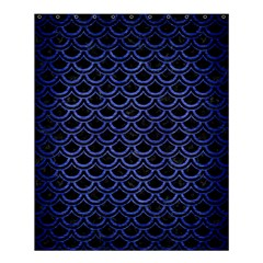 Scales2 Black Marble & Blue Brushed Metal Shower Curtain 60  X 72  (medium) by trendistuff
