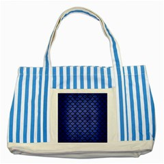 Scales1 Black Marble & Blue Brushed Metal (r) Striped Blue Tote Bag by trendistuff