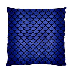 Scales1 Black Marble & Blue Brushed Metal (r) Standard Cushion Case (two Sides) by trendistuff