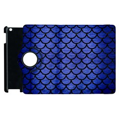 Scales1 Black Marble & Blue Brushed Metal (r) Apple Ipad 2 Flip 360 Case by trendistuff