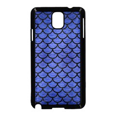 Scales1 Black Marble & Blue Brushed Metal (r) Samsung Galaxy Note 3 Neo Hardshell Case (black) by trendistuff