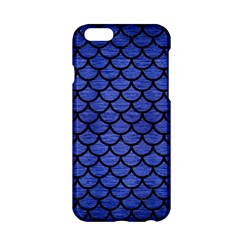 Scales1 Black Marble & Blue Brushed Metal (r) Apple Iphone 6/6s Hardshell Case by trendistuff