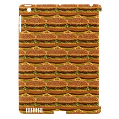 Delicious Burger Pattern Apple Ipad 3/4 Hardshell Case (compatible With Smart Cover) by berwies