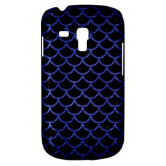 Scales1 Black Marble & Blue Brushed Metal Samsung Galaxy S3 Mini I8190 Hardshell Case
