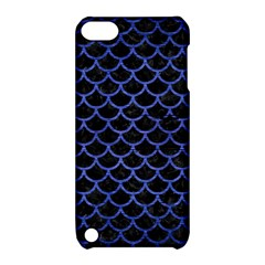 Scales1 Black Marble & Blue Brushed Metal Apple Ipod Touch 5 Hardshell Case With Stand by trendistuff