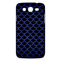 Scales1 Black Marble & Blue Brushed Metal Samsung Galaxy Mega 5 8 I9152 Hardshell Case  by trendistuff