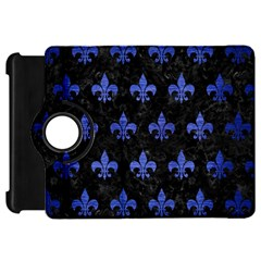 Royal1 Black Marble & Blue Brushed Metal (r) Kindle Fire Hd Flip 360 Case by trendistuff