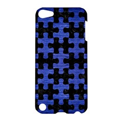 Puzzle1 Black Marble & Blue Brushed Metal Apple Ipod Touch 5 Hardshell Case by trendistuff