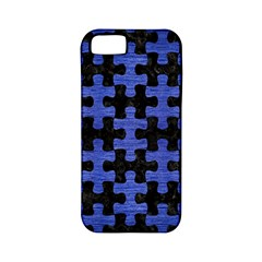 Puzzle1 Black Marble & Blue Brushed Metal Apple Iphone 5 Classic Hardshell Case (pc+silicone) by trendistuff