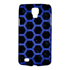 Hexagon2 Black Marble & Blue Brushed Metal Samsung Galaxy S4 Active (i9295) Hardshell Case by trendistuff