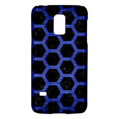 Hexagon2 Black Marble & Blue Brushed Metal Samsung Galaxy S5 Mini Hardshell Case  by trendistuff