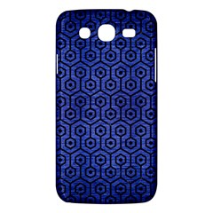 Hexagon1 Black Marble & Blue Brushed Metal (r) Samsung Galaxy Mega 5 8 I9152 Hardshell Case  by trendistuff
