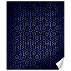Hexagon1 Black Marble & Blue Brushed Metal Canvas 20  X 24  by trendistuff