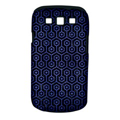 Hexagon1 Black Marble & Blue Brushed Metal Samsung Galaxy S Iii Classic Hardshell Case (pc+silicone) by trendistuff