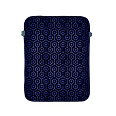 Hexagon1 Black Marble & Blue Brushed Metal Apple Ipad 2/3/4 Protective Soft Case by trendistuff
