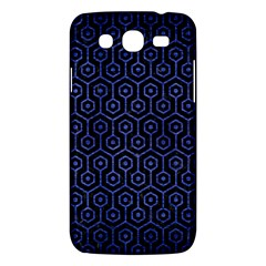 Hexagon1 Black Marble & Blue Brushed Metal Samsung Galaxy Mega 5 8 I9152 Hardshell Case  by trendistuff