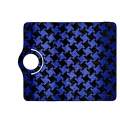 Houndstooth2 Black Marble & Blue Brushed Metal Kindle Fire Hdx 8 9  Flip 360 Case by trendistuff