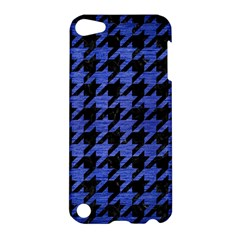 Houndstooth1 Black Marble & Blue Brushed Metal Apple Ipod Touch 5 Hardshell Case by trendistuff
