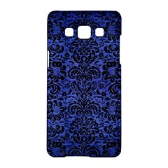 Damask2 Black Marble & Blue Brushed Metal (r) Samsung Galaxy A5 Hardshell Case  by trendistuff
