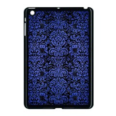 Damask2 Black Marble & Blue Brushed Metal Apple Ipad Mini Case (black) by trendistuff