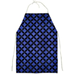 Circles3 Black Marble & Blue Brushed Metal (r) Full Print Apron by trendistuff
