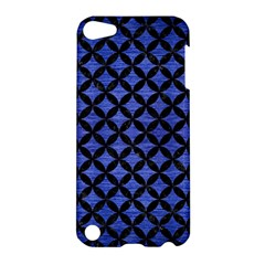 Circles3 Black Marble & Blue Brushed Metal (r) Apple Ipod Touch 5 Hardshell Case by trendistuff