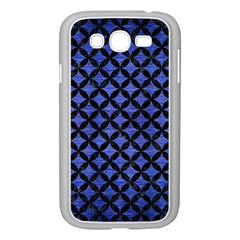Circles3 Black Marble & Blue Brushed Metal (r) Samsung Galaxy Grand Duos I9082 Case (white) by trendistuff