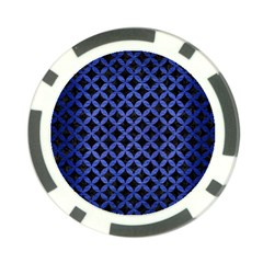 Circles3 Black Marble & Blue Brushed Metal Poker Chip Card Guard by trendistuff
