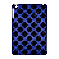 Circles2 Black Marble & Blue Brushed Metal (r) Apple Ipad Mini Hardshell Case (compatible With Smart Cover) by trendistuff