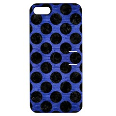 Circles2 Black Marble & Blue Brushed Metal (r) Apple Iphone 5 Hardshell Case With Stand by trendistuff