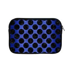 Circles2 Black Marble & Blue Brushed Metal (r) Apple Ipad Mini Zipper Case by trendistuff
