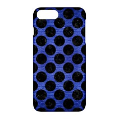 Circles2 Black Marble & Blue Brushed Metal (r) Apple Iphone 7 Plus Hardshell Case