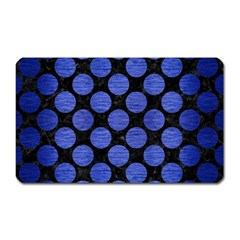 Circles2 Black Marble & Blue Brushed Metal Magnet (rectangular) by trendistuff
